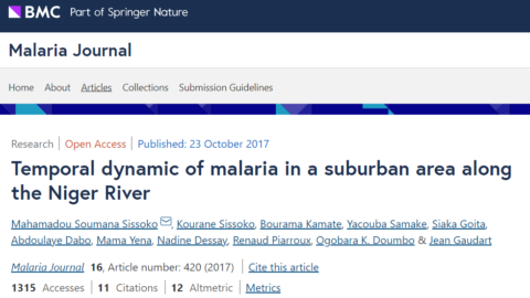 Dynamique temporelle du paludisme dans une zone périurbaine le long du fleuve Niger