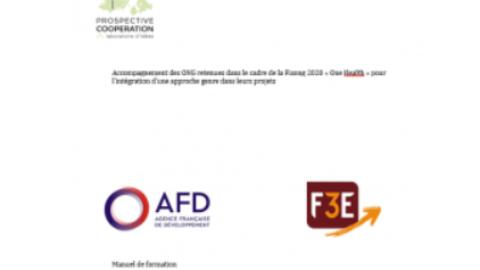 Manuel de la Formation à distance à l'intégration du genre dans les projets sélectionnés pour la Fisong 2020 One Health
